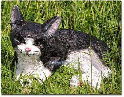 Katze Kater als Dekofigur Gartenfigur - Vorschau 1
