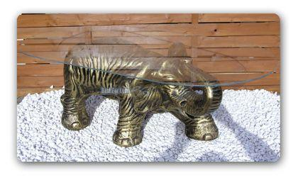 Elefant Afrika Figur Wonzimmertisch Couchtisch - Vorschau 2