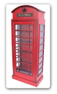 englische telefonzelle deko vitrine schrank kaufen bei helga freier. Black Bedroom Furniture Sets. Home Design Ideas