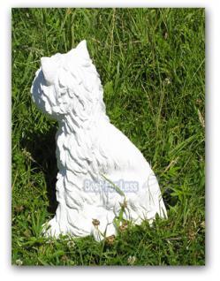 West Highland Terrier Dekofigur Gartenfigur Figur - Vorschau 3