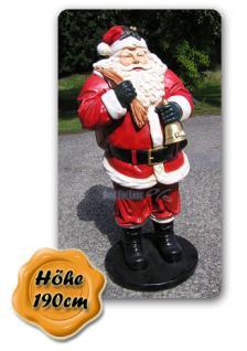 Lebensgroße Weihnachtsmann Figur Dekofigur. - Vorschau 1