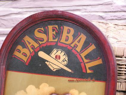 Antik Baseball Schild Wandbild Deko Holz Nostalgie Sport Bar - Vorschau 4