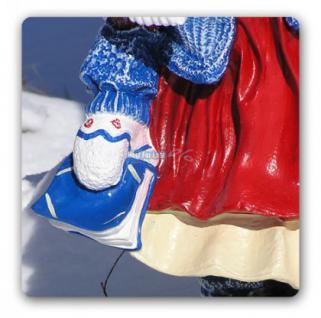 Mädchen Winterdekoration Advents Deko Figur Deko - Vorschau 4