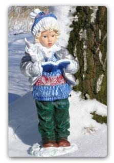Junge Winterdekoration Atvents Deko Figur Statue
