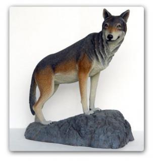 Wolf Dekofigur Lebensgroß Figur Statue