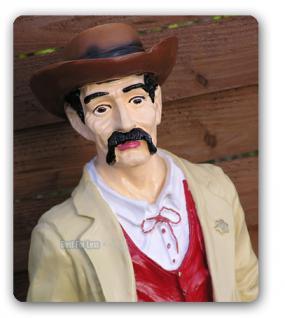 Marschall Cowboy Dekofigur Western Figur Statue - Vorschau 3
