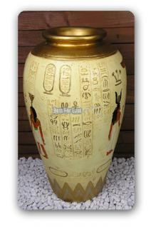 ÄGYPTEN ÄGYPTISCHE VASE DEKORATION DEKO STATUE