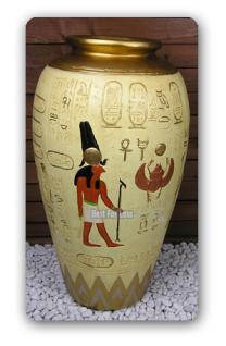 gypten gyptische vase dekoration deko statue kaufen. Black Bedroom Furniture Sets. Home Design Ideas