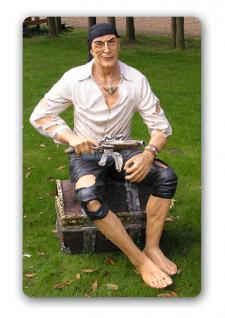 Pirat Seeräuber Dekofigur Figur Lebensgroß Statue