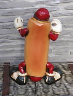 Hot Dog Antik Werbefigur beleuchtet Restaurant Imbiss Werbung - Vorschau 5
