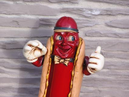 Hot Dog Antik Werbefigur beleuchtet Restaurant Imbiss Werbung - Vorschau 3
