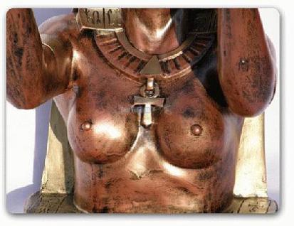 Ägyptische Dekofigur als Tisch Wohnzimmertisch - Vorschau 4