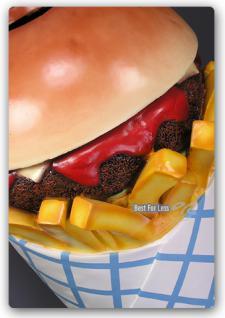 Hamburger Pommes Tüte Werbfigur Mülleimer Figur - Vorschau 3