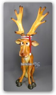 Lustiger Elch Weihnachtsdekoration Figur Winter - Vorschau 1