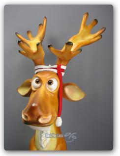 Lustiger Elch Weihnachtsdekoration Figur Winter - Vorschau 2