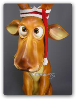 Lustiger Elch Weihnachtsdekoration Figur Winter - Vorschau 3