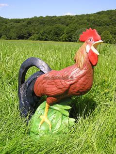Hahn als Dekofigur für die Bauernhof Deko