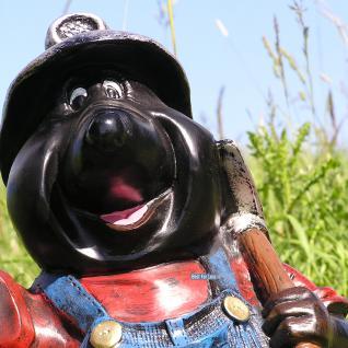 Maulwurf mit Laterne Gartenfigur Dekofigur Figur - Vorschau 3