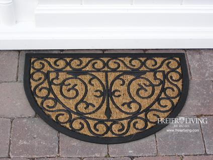 Art Deco Nostalgie Shabby Chic Kokos Fußmatte Fußabtreter Matte Gummimatte