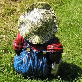Maulwurf als Gartenarbeiter Gartenfigur Dekoration - Vorschau 2