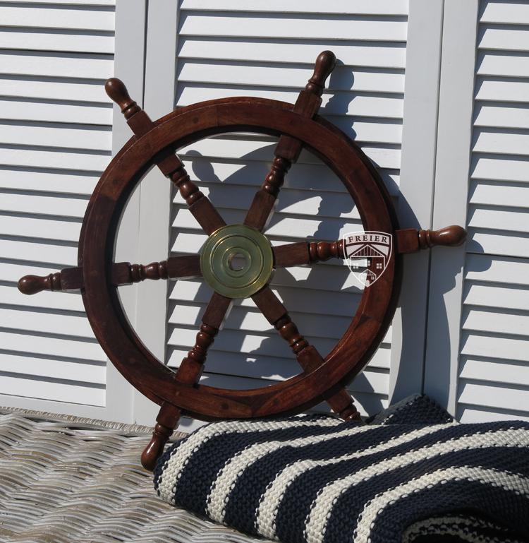 steuerrad segelschiff holz schiff boot modell deko maritim. Black Bedroom Furniture Sets. Home Design Ideas
