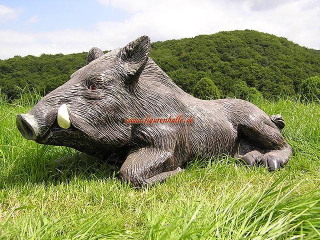 wildschwein als dekofigur f r haus und garten kaufen bei. Black Bedroom Furniture Sets. Home Design Ideas