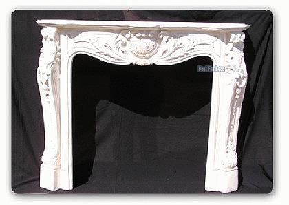 kaminumrandung kaminkonsole antik wei kamin deko kaufen bei helga freier. Black Bedroom Furniture Sets. Home Design Ideas