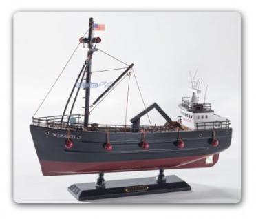 fischerboot wizard modellboot holz schiff fischkutter boot dekoration kaufen bei helga freier. Black Bedroom Furniture Sets. Home Design Ideas