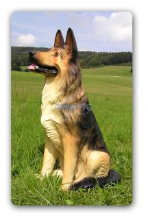 Schäferhund Dekofigur Lebensgroß Figur - Vorschau 1