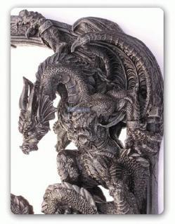 Drachen Spiegel im Gothic Style Figur Statue - Vorschau 5