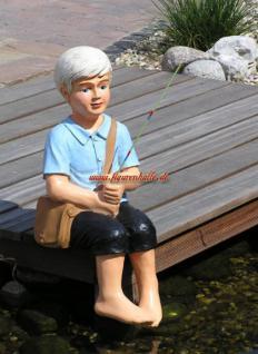 Junge mit Angel als Gartenfigur Figur Deko Garten Garten Teich