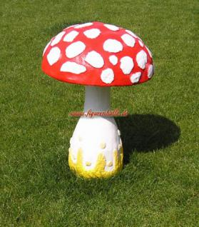 Fliegenpilz gartenfigur pilz deko figur kaufen bei helga for Fliegenpilz dekoration
