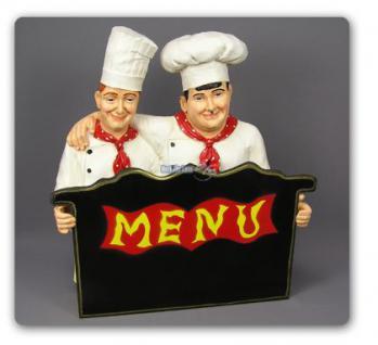 Dick und Doof als Koch Werbeaufsteller Werbefigur