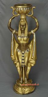 Ägyptische Wache Ägypterin Ägypter mit Schale Figur Statue Skulptur Fan Dekoration Mächtig