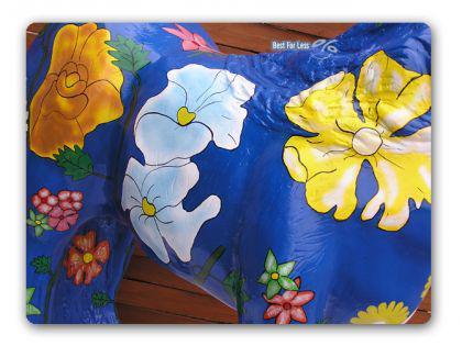 Pferd Kunstbemahlung Blumen Figur Werbefigur - Vorschau 2