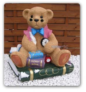Teddybär in Antik optik Figur Fan Deko Teddy