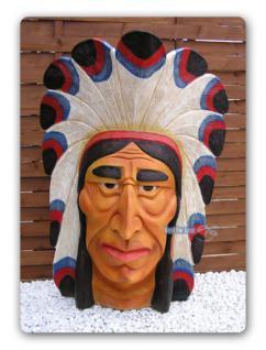 Indianer Häuptling Figur Statue Country Deko