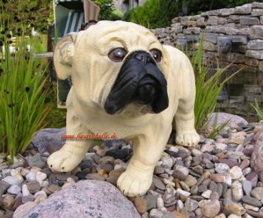 Mops Hundefigur Tierfigur Figur Statue - Vorschau 3