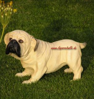 Mops Hundefigur Tierfigur Figur Statue - Vorschau 1