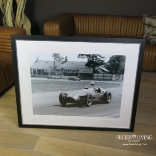 Ferrari Wandbild Poster Druck schwarz weiß Nostalgie Auto Deko