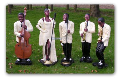 Jazz Band Bluse Musiker Figur Dekofigur Figuren