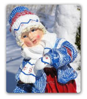 Mädchen Winterdekoration Advents Deko Figur Deko - Vorschau 2