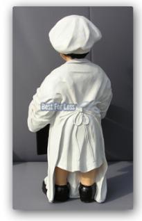 Bäcker Figur als Werbeaufsteller mit Menütafel - Vorschau 3