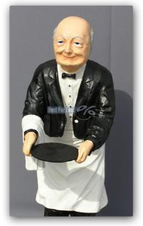 Butler Opa Diener Kellner Dekofigur Deko Figur - Vorschau 1