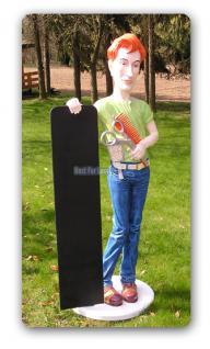 Friseur Figur Werbefigur Straßenaufsteller Tafel