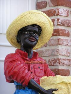 Black Boy Butlerfigur Diner Gartenfigur Statue - Vorschau 1