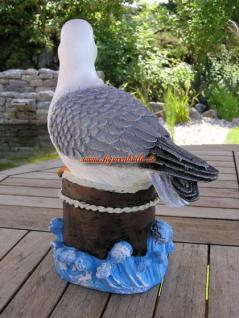Möwe Dekofigur Maritime Dekoration Seevogel Statue Deko - Vorschau 4