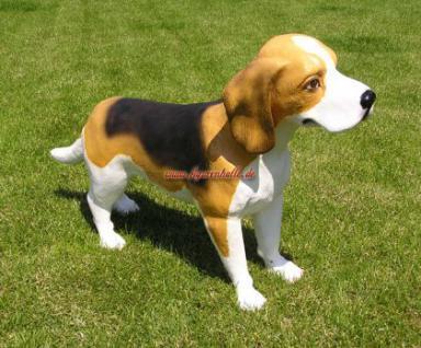 Beagle Terrier Figur Statue Dekoration Figur Deko - Vorschau 1