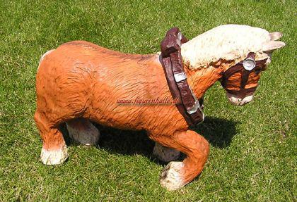 Kaltblüter Pferd Figur Tierfigur Statue Skulptur - Vorschau 1