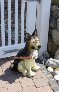 Deutscher Schäferhund Gartenfigur Dekofigur Figur - Vorschau 4